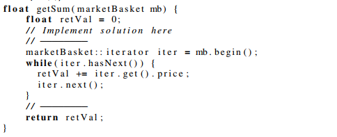 Task 1 - iterator: expected solution