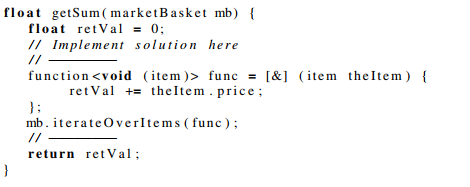 Task 1 - lambda: expected solution
